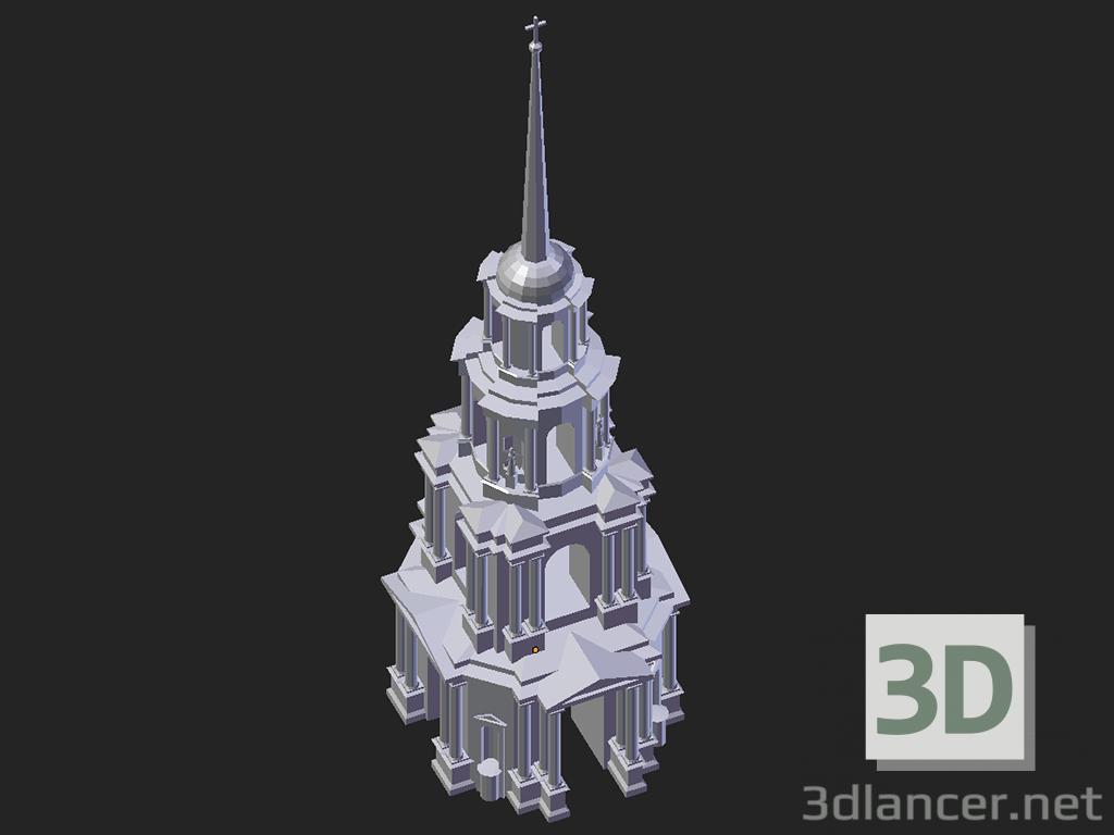 3D modeli Ryazan. Katedral çan kulesi - önizleme