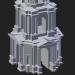 3D Modell Ryazan. Glockenturm der Kathedrale - Vorschau