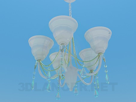 3d model Chandelier with porcelain ceiling paintings - preview