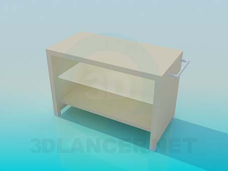 3d model Bedside table with handles on the sides - preview