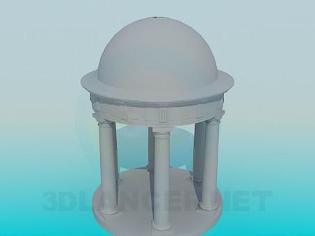 modelo 3D Pérgola con columnas - escuchar