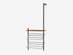 Furniture wall element with shelves for shoes