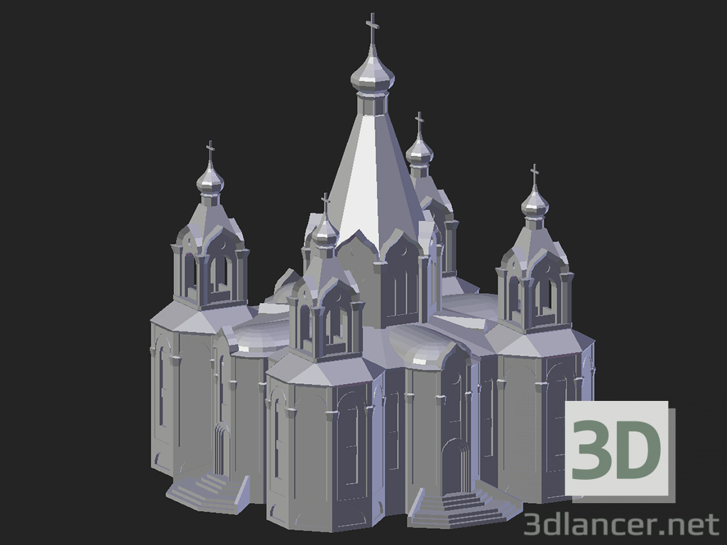3d model Desnogorsk. Cathedral - preview