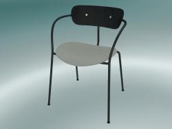Chair Pavilion (AV4, H 76cm, 52x56cm, Black stained oak, Balder 612)