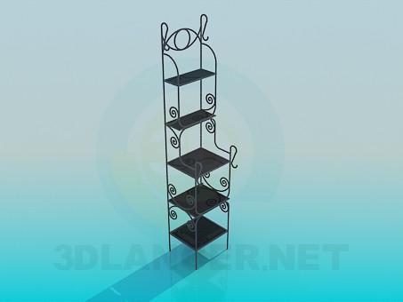 3d моделирование Кованая этажерка модель скачать бесплатно