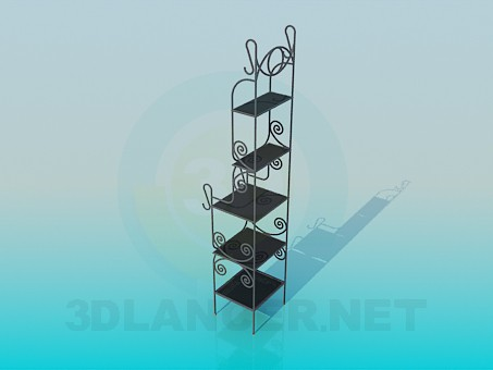 3d model Cast iron shelves - preview