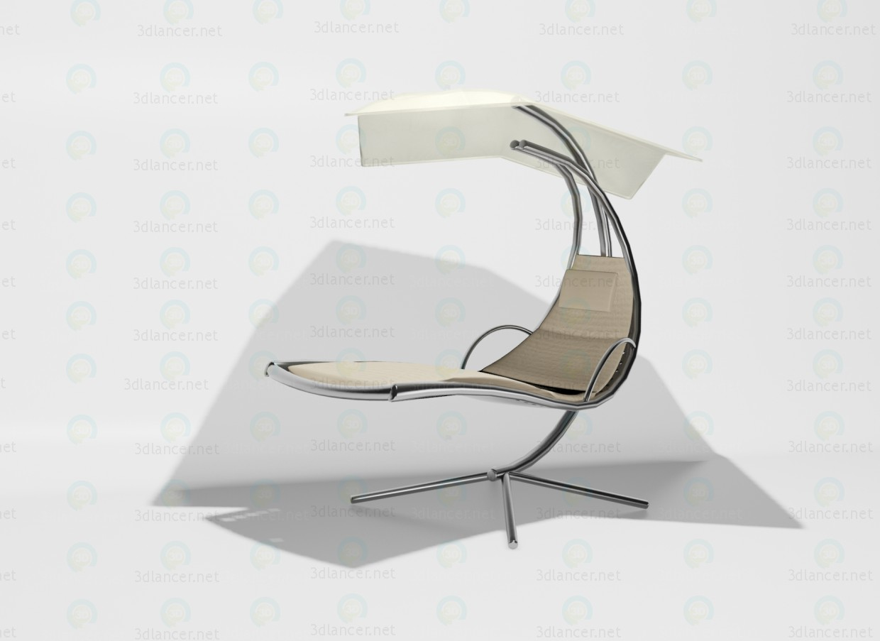 3d model Diva chaise lounge - preview