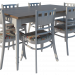 Provence Dining table and chairs paid 3d model by ShlomiGondabi preview
