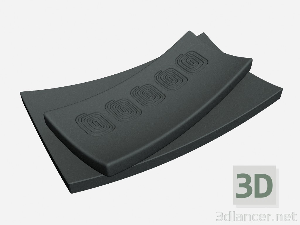 3d model Decorative plates in the art deco-style Plates in black wax - preview