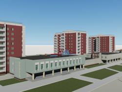 Complexo residencial em Chelyabinsk, de acordo com B. Kashirinykh e Sev. Criméia