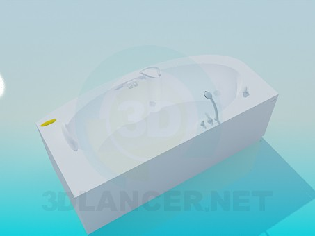 3d model Comfortable bath-jacuzzi - preview