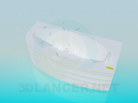 modelo 3D Cómodo baño-jacuzzi - escuchar