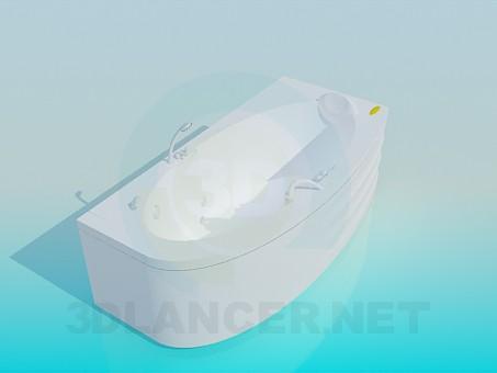 3d модель Удобная ванна-джакузи – превью