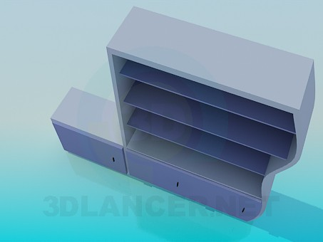 3d model Low shelving - preview