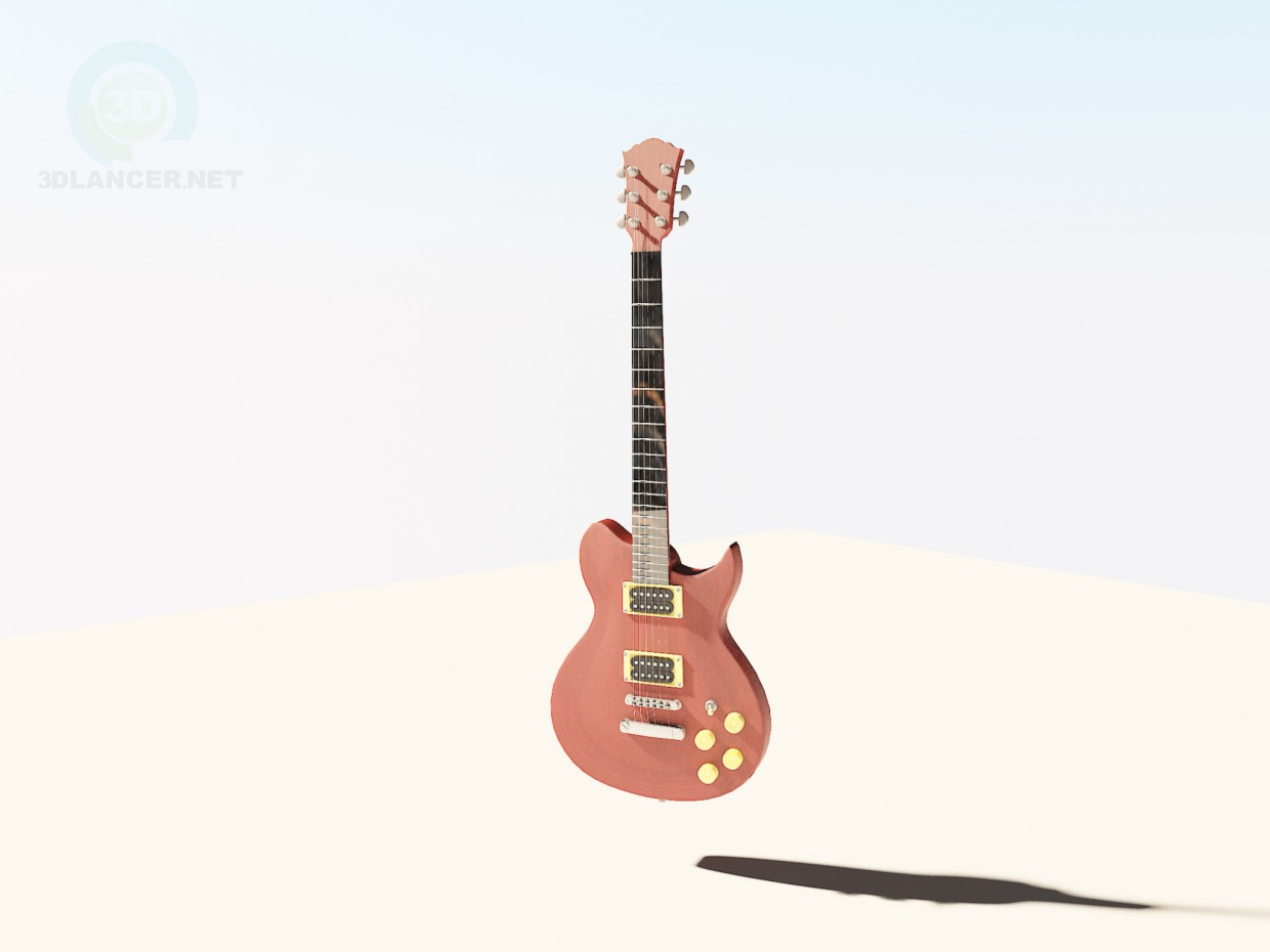 3d model Washburn wi66pro guitar - preview