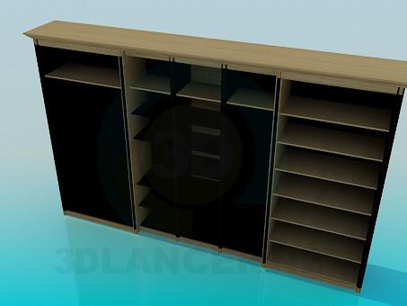 3d модель Шкаф с полками – превью