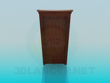 3d model Wooden door - preview