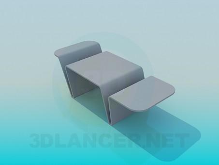 3d модель Столик журнальний – превью