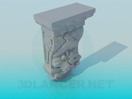 modelo 3D Escultura de decoración - escuchar
