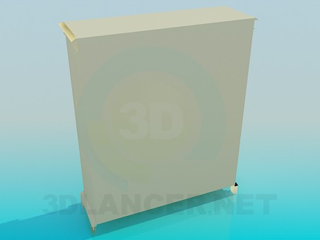 modelo 3D Buffet, base - escuchar