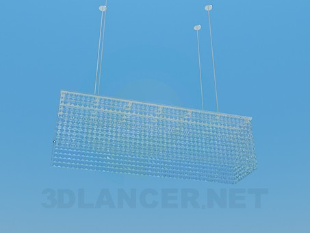 3d model Rectangular lamp - preview