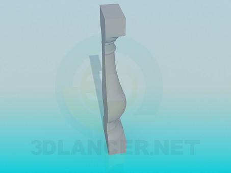 3d model Decorative element from plaster - preview