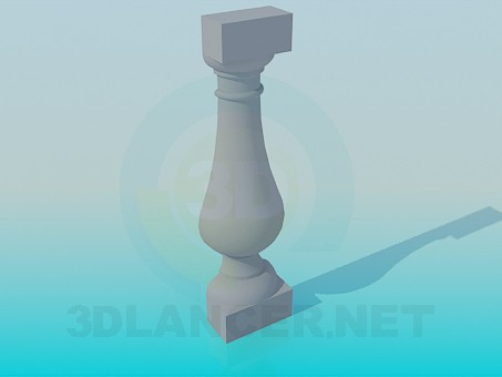 3d модель Декоративный элемент из гипса – превью