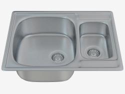 fregadero de la cocina de acero solitario (ZHS-0503 52279)