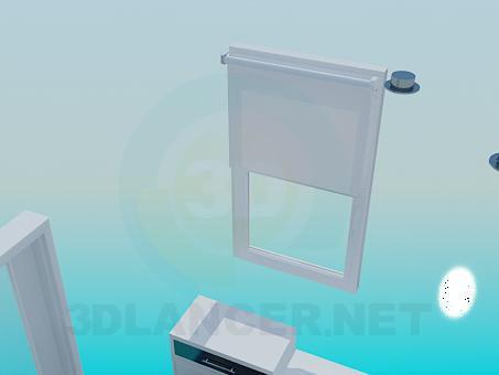 modelo 3D El cuarto de baño en tonos azules - escuchar