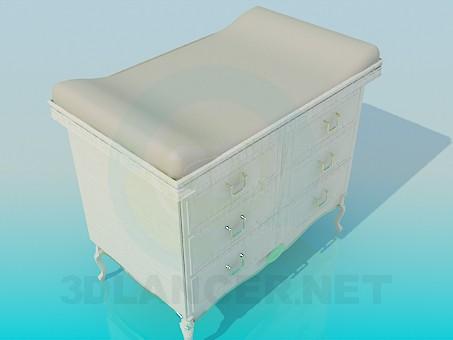 3d модель Комод со столиком для пеленания – превью