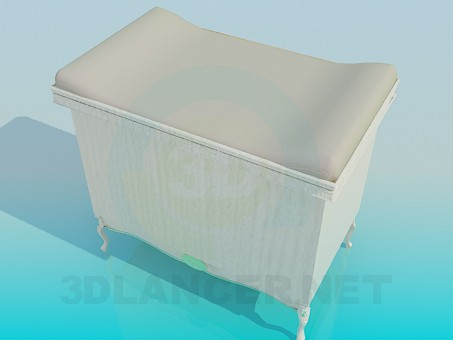 3d model Chest of drawers with table mats - preview