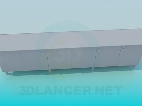 3d модель Довга тумба – превью