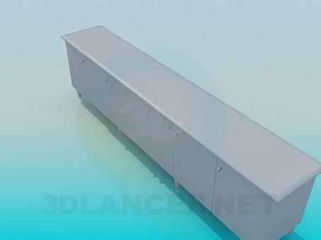 3d модель Длинная тумба – превью