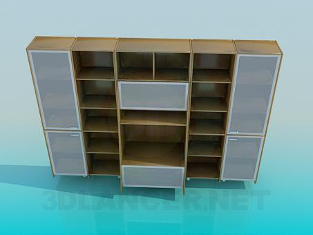 3d model Brown cabinet - preview