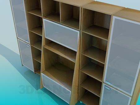 modelo 3D Gabinete de Brown - escuchar