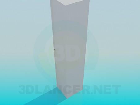 3d модель Шкаф в ванную – превью