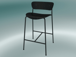 Bar stool Pavilion (AV7, H 85cm, 48х50cm, Black stained oak)
