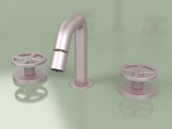 3-hole bidet mixer with adjustable spout (20 37 V, OR)