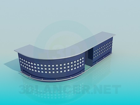 3d modeling Reception model free download