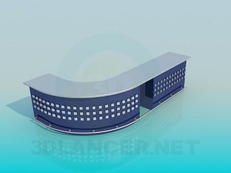 3d модель Стійка адміністратора – превью