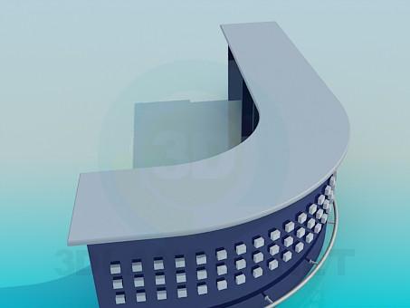 modelo 3D Recepción - escuchar