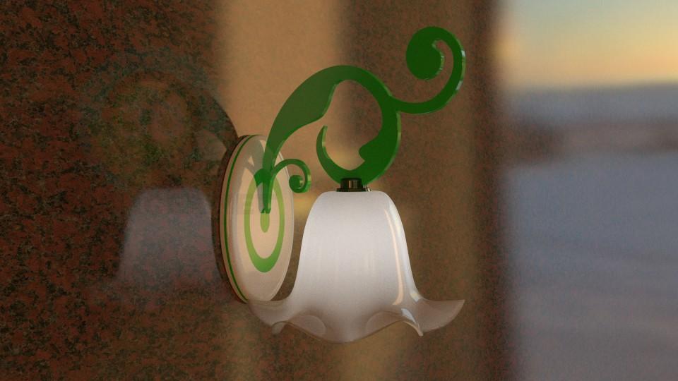 3d моделювання Настінний світильник модель завантажити безкоштовно