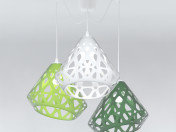 Three-color ZAHA chandelier LIGHT