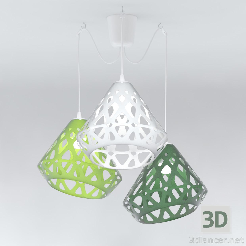 3d model Three-color ZAHA chandelier LIGHT - preview