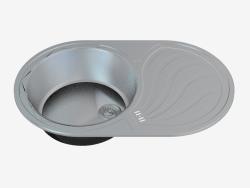 Fregadero de la cocina de acero Rumba (ZMR-011L zlewozmywak 66940)