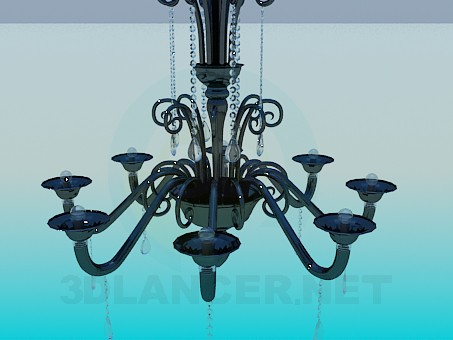 3d modeling Chandelier for the Hall model free download