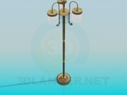 Floor lamp with three lamps
