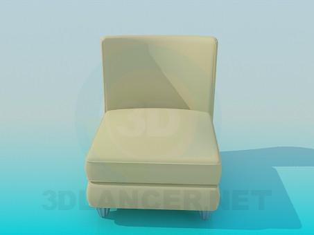3d модель Кресло кремового цвета – превью