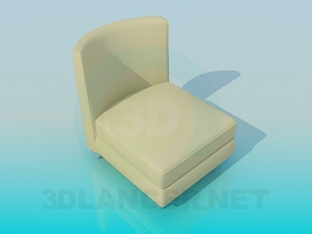 3d model Chair cream - preview
