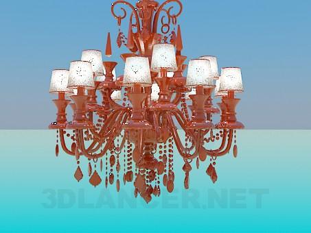 3d model Opulent chandelier - preview